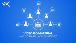 Video é o Material mais compartilhado da internet