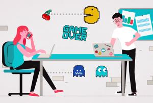 Nerd Stickers video animação online